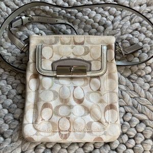 Coach signature crossbody with sequin detail